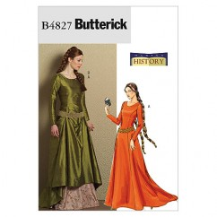 B4827 Misses' Medieval Dress and Belt (size: 6-8-10-12)