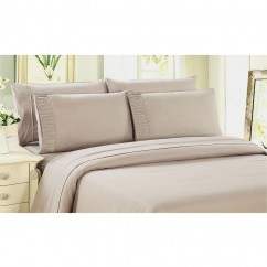 Bamboo Living - Comfort and Soft Fitted Sheet - Beige