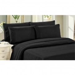 Bamboo Living - Comfort and Soft Flat Sheet - Black
