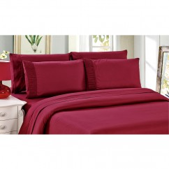 Bamboo Living - Comfort and Soft Flat Sheet - Burgundy