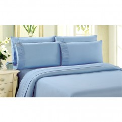 Bamboo Living - Comfort and Soft Flat Sheet - Light Blue