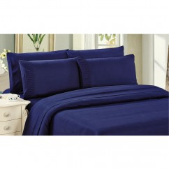 Bamboo Living - Comfort and Soft Flat Sheet - Navy Blue