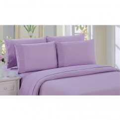Bamboo Living - Comfort and Soft Flat Sheet - Purple