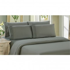 Bamboo Living - Comfort and Soft Flat Sheet - Grey