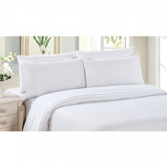 Bamboo Living - Comfort and Soft Flat Sheet - White