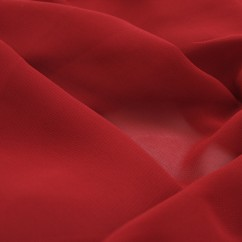 Clichy Chiffon - Dark Red