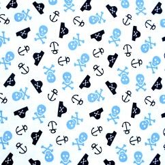 BABYVILLE BOUTIQUE WATERPROOF PUL FABRICLITTLE PIRATES/SKULLS 165CM (64 INCHES)