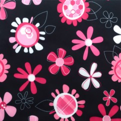 Babyville Boutique Waterproof PUL Fabric Pink Floral 165cm (64 inches)