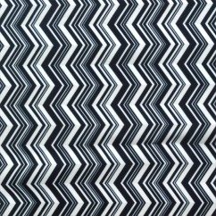 Babyville Boutique Waterproof PUL Fabric Black / White Chevron