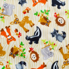Babyville Boutique Waterproof PUL Fabric Forest Friends 165cm (64 inches)