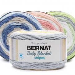 BERNAT BABY BLANKET STRIPES YARN