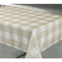Tablecloth - Check - Beige