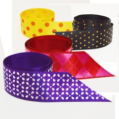 Single Face Satin Ribbon - Dots and Checks