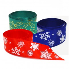 Single Face Satin Ribbon - Christmas Styles