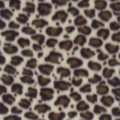 Fleece Skin Prints - Leopard Cream / Brown