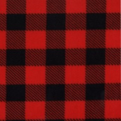 Buffalo check Anti-pill Fleece Print - red / black