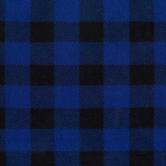 Buffalo check Anti-pill Fleece Print - royal / black