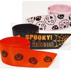 Single Face Satin Ribbon - Halloween styles