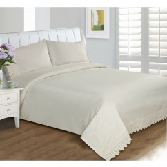 Eyelet Lace 400 Thread Count sheet set - Cream