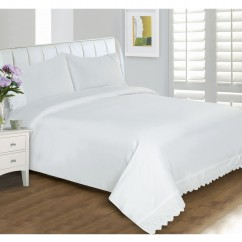Eyelet Lace 400 Thread Count sheet set - White