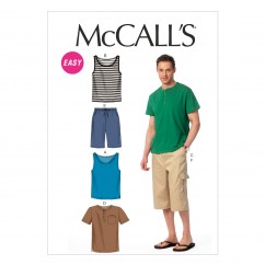 M6973 Men's Tank Tops, T-Shirts and Shorts (size: SML-MED-LRG)