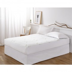 Waterproof Bamboo Mattress Protector - White