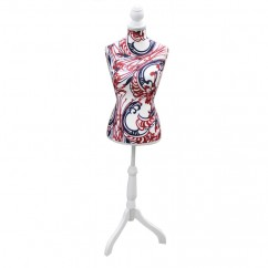 Decorative mannequin - Paisley - Red / navy