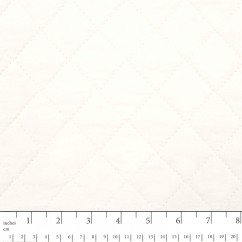 Quilted Back to Back Broadcloth - White