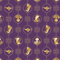 Camelot - PRIVILÈGE - Licensed Cotton Print - Aladdin lamp - Purple