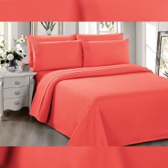 Bamboo Living  Sheet Set - Coral