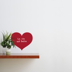 Adhesive Blackboard wall decals - Love Chalkboard