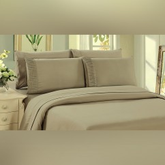 Bamboo Living - Eco Friendly Egyptian Comfort Sheet Set  - Taupe