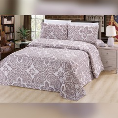 Bamboo Living - Paisley 6 pcs. Sheet Set - Taupe