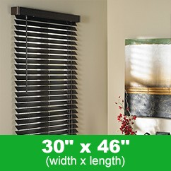 TRISTAN FAUX-WOOD BLINDS - Dark Brown 30 x 46