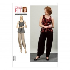 V1355 Misses' Top and Pants - Misses (Size: All Sizes in One Envelope)