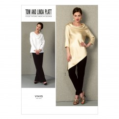 V1415 Misses' Tunic and Pants - Misses (Size: B5 (8-10-12-14-16))