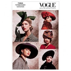 V7464 Vintage Hats - Misses (Size: All Sizes in One Envelope)