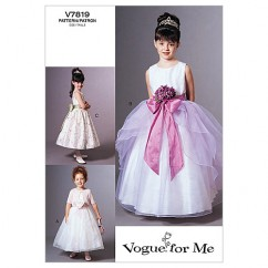 V7819 Children's Jacket and Dress - Child Only (Size: 2-3-4)