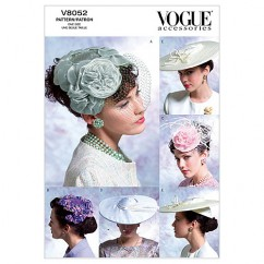 V8052 Misses' Vintage Hats - Misses (Size: One size only)