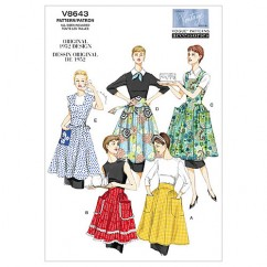 V8643 Aprons - Misses (Size: All Sizes in One Envelope)