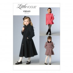 V9043 Children's/Girls' Jacket and Coat - Child Only (Size: CDD (2-3-4-5))