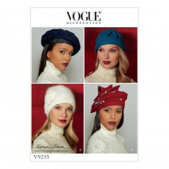 V9235 Misses' Hats in Four Styles (size: One Size Only)
