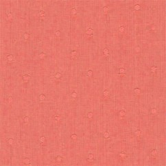 BIBI Cotton Swiss Dot - Coral