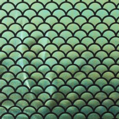 Hologram Knit - Mermaid scale - Green