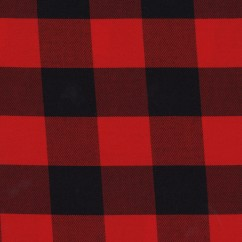 Tartan Suiting - Buffalo Check - Red / Black
