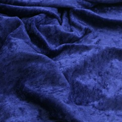 Crushed Panne Velour - Sapphire Blue