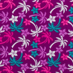 Bathing Suit Print - Palm tree - Purple