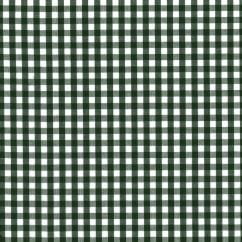 Gingham Check - Dark Green 1/4""