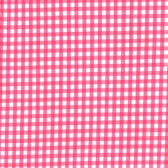 Gingham 1/4 Inch - Bright Pink