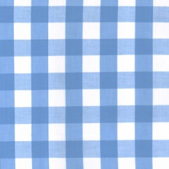 Gingham Check - Light Blue 1""